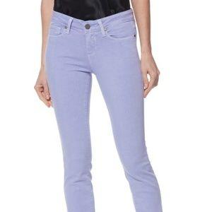 New PAIGE Transcend Purple Ankle Jeans